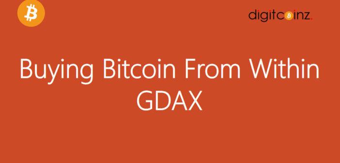 GDAX Bitcoin